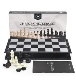 Magnetic International Chess Checkers Set