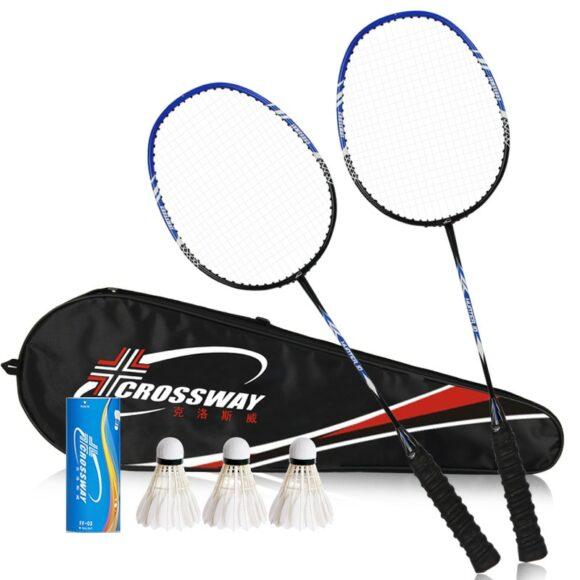 Badminton Racket Set Blue
