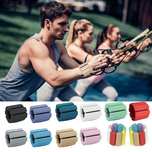 Silicone Yoga Pilates Weighted Bracelet