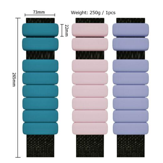 Silicone Yoga Pilates Weighted Bracelet Sizes