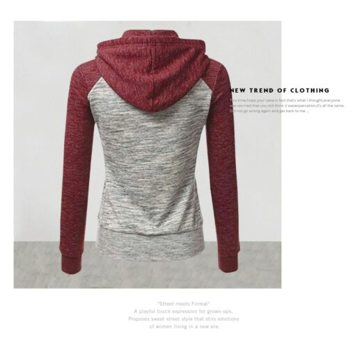 Hooded omen Sweatshirt Back