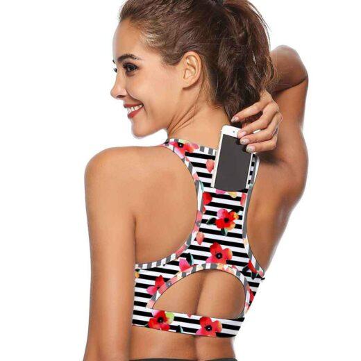 NB-013: Women Sports Bra With Phone Pocket