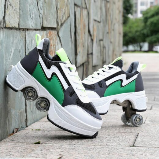 Roller Quad Shoes Green