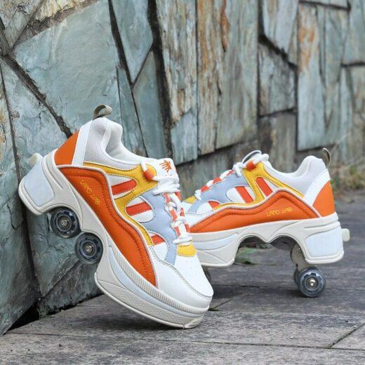 Roller Quad Shoes Orange