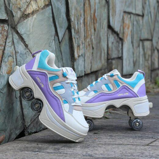 Roller Quad Shoes Purple
