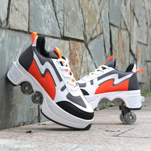 Roller Quad Shoes Vibrant Orange
