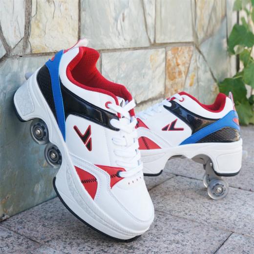 Walk Roller Skates Transformer Shoes Gray Blue White