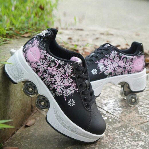 Roller Quad Shoes Black