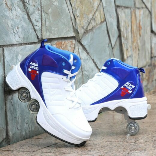 Roller Quad Shoes White
