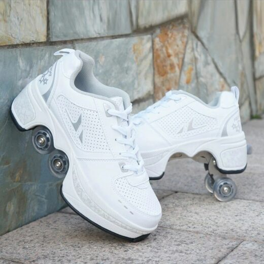 Walk Roller Skates Transformer Shoes White