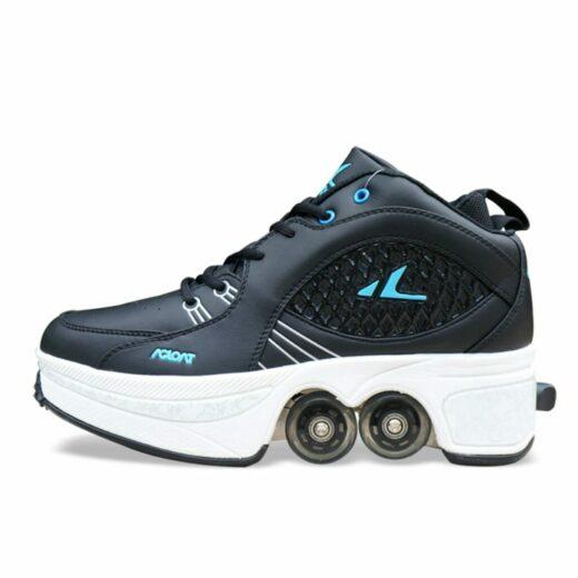 Walk Roller Skates Transformer Shoes Black