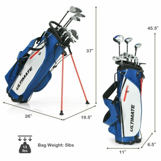 Men's Golf Club Iron Set with Stand Bag Sizes