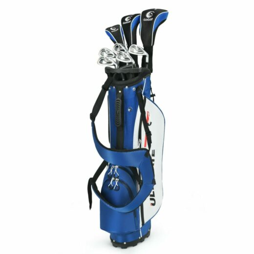 Men's Golf Club Iron Set with Stand Bag