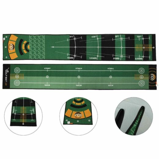118 inch Indoor Training Golf Putting Mat For Indoor Home Office