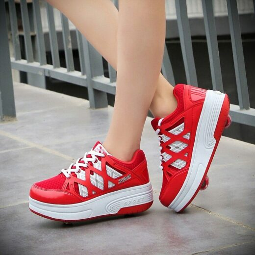 Kids Roller Skating Shoes Red