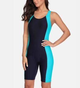 Boyleg Knee-length Sport Swimsuit