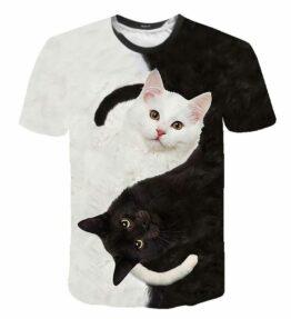 Women's 3D Cat Print T-Shirt