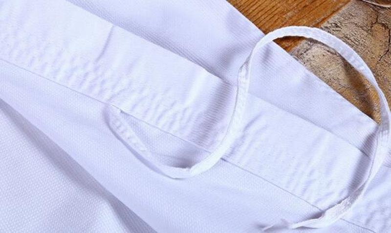 Professional White Karate Uniform with Waistband Belt Taekwondo Suit For Adult Children Women Men Kung Fu Training Gym Clothes