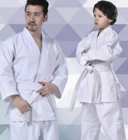 Professional White Karate Taekwondo Uniform with Waistband Belt