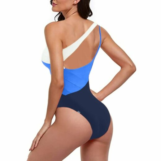 Women new fashion summer Bikinis Multi Color Sexy Solid Color High Waist Conjoined Body Swimsuit Bikini Купальник Женский 2021