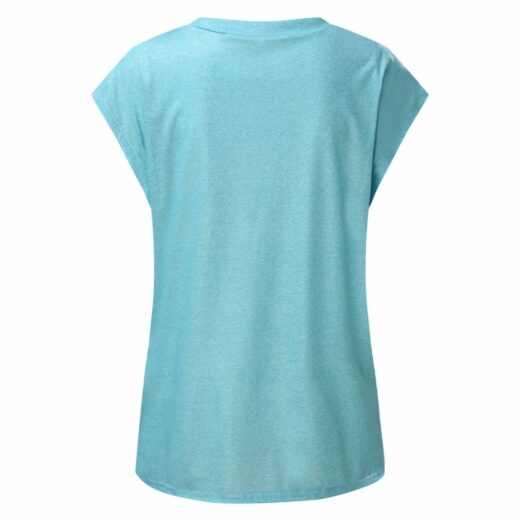 Summer Tee Shirt for Women Round Neck Short Sleeve Casual Flower Print Vintage Tops Pullover Female Elegant Streetwear T-shirts Back