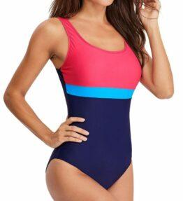 Women Solid Color Swimwear