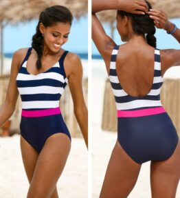 Bathing Suit One Piece Backless