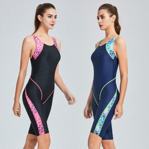 Sport Patchwork Competitive Swimwear