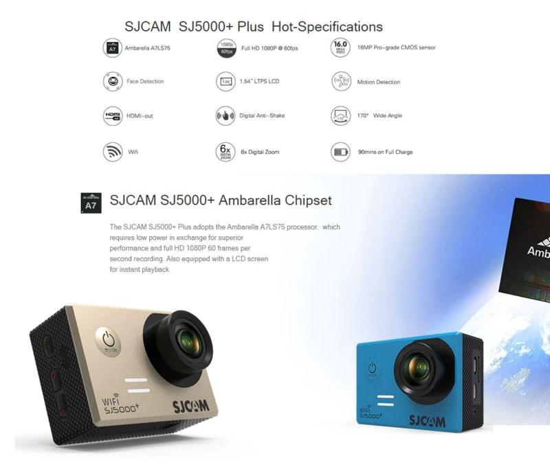 SJCAM 5000 Plus WiFi Ambarella Chipset